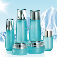 China wholesale beauty color skin care cosmetic glass jar cosmetic creams packaging glass bottle