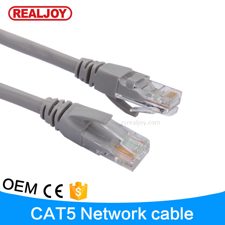 RJC7010 3FEET 1m CCA copper clad aluminium grey communication <strong>network</strong> utp cat cat5e cable
