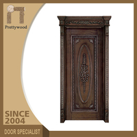 Sliding Fireproof Main Design Wood Interior Solid Door