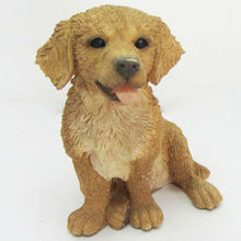 Sculpture OEM poly resin animal dog statue