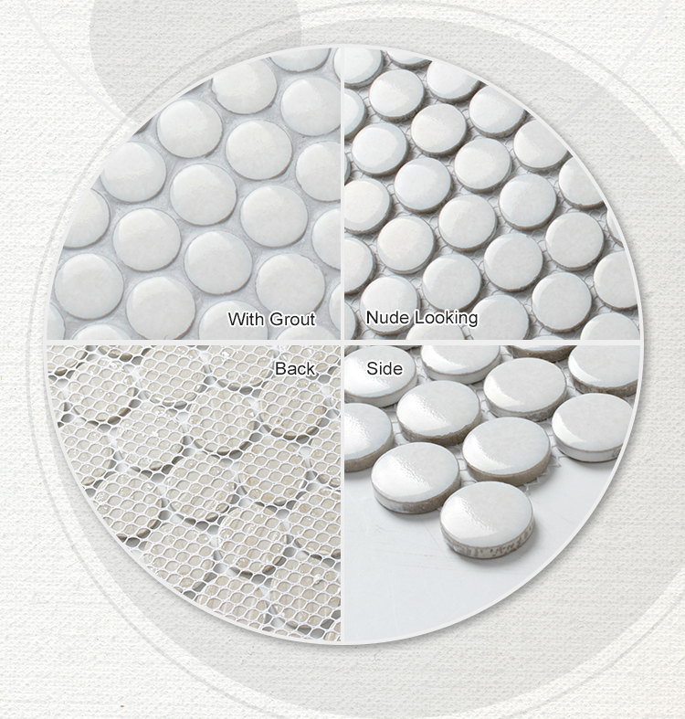 Penny round mosaico tile for kitchen backsplash
