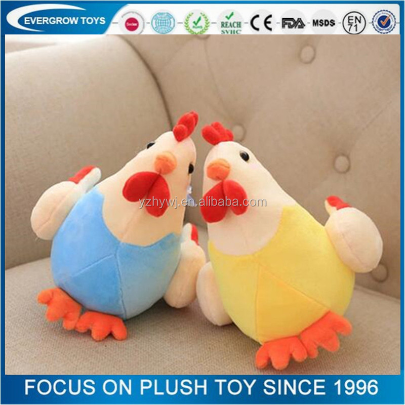 Cheap colorful chicken toy stuffed plush zodiacs soft toy