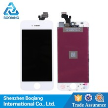 white balck touch screen digitizer panel replacement screen Lcd display assembly for iphone 5 5G 5S wholesale