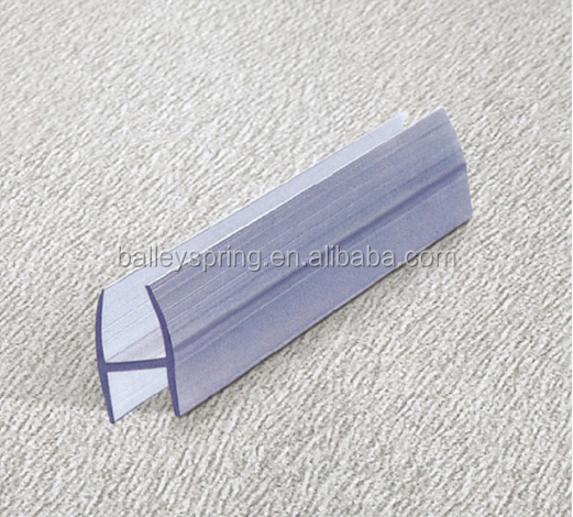 H shaped water stop shower door weather seal strip B010