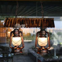 Southeast Asia bamboo roof metal lantern pendant lamp for home decorat