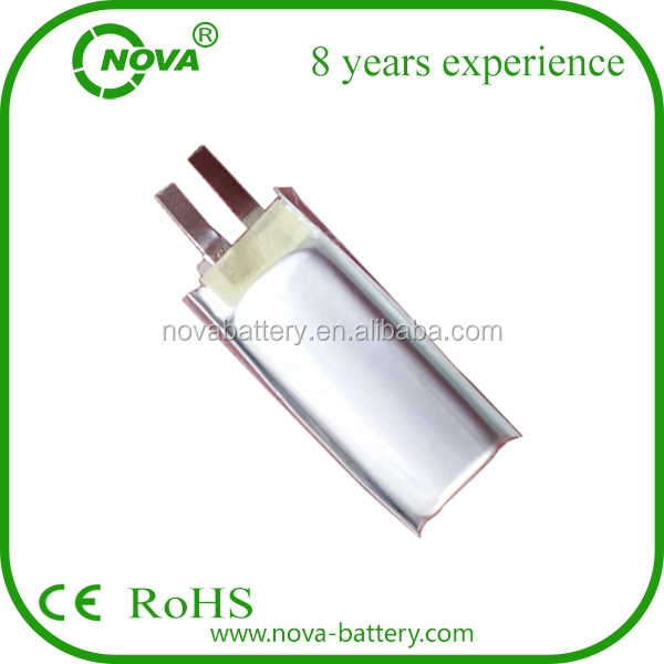 3.7v smallest lipo battery 401235 3.7volt li polymer battery 125mah