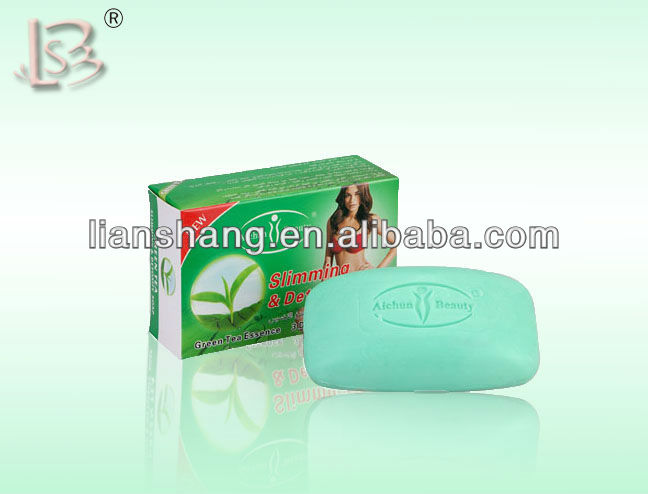 Detox body weight loss & slimming soap 100 g green tea