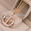 Fashion beautiful gold pendants necklace,anchor necklace pendant