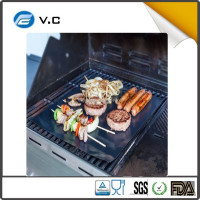 Best bbq grill mat set of 2 for gas charcoal electric Non-stick Grille Mat for Barbeque