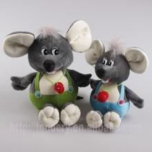 soft stuffed grey straps mouse animal toys for kids