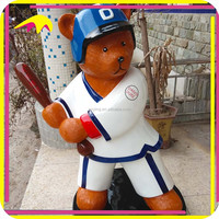 KANO0330Shopping Mall Decorative Life Size Golfer Statue