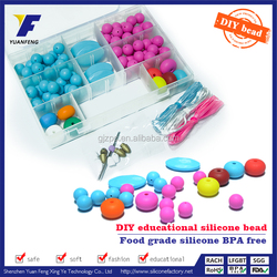 Wholesale bulk silicone teething,teething bracelets for mom,baby bead necklace chew