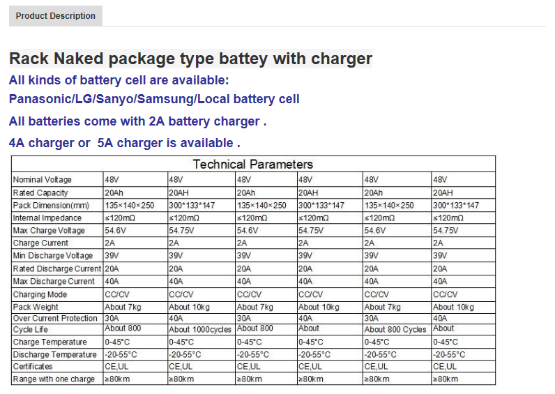 Cheap naked package battery big capacity batteries