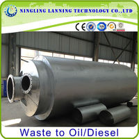 top oil yield waste tyre pyrolysis fuel oil plant with CE&ISO