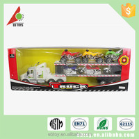 Cheap promotion loaded motorcycle truck model mini car toy
