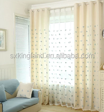 Embroidery blackout curtain machine embroidery designs for curtains