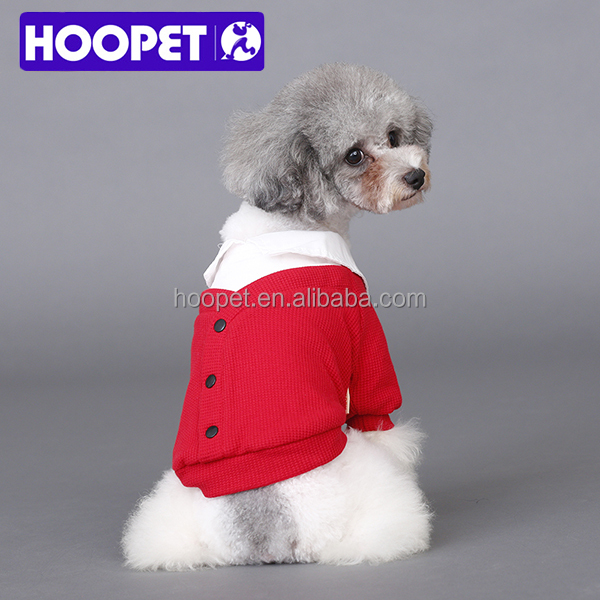 HOOPET 2015 winter new arrival pet clothes Korean fashion red girls christmas dog sweater