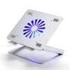 Angle height adjustable foldable metal aluminum laptop stand with cooling fan