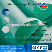 medical disposable EO and Steam sterilization crepe wrapping paper