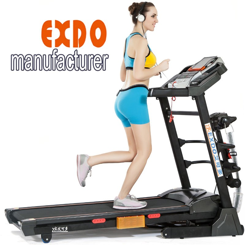 2017 New LCD screen home used treadmill, life gear fitness equipment with MP3 USB