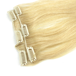 Chinese import sites Factory Wholesale Virgin Brazilian Hair Clip On Hair Extension Double Weft