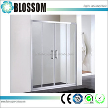 2015 China nice design alcove one piece fiberglass stand alone shower enclosures
