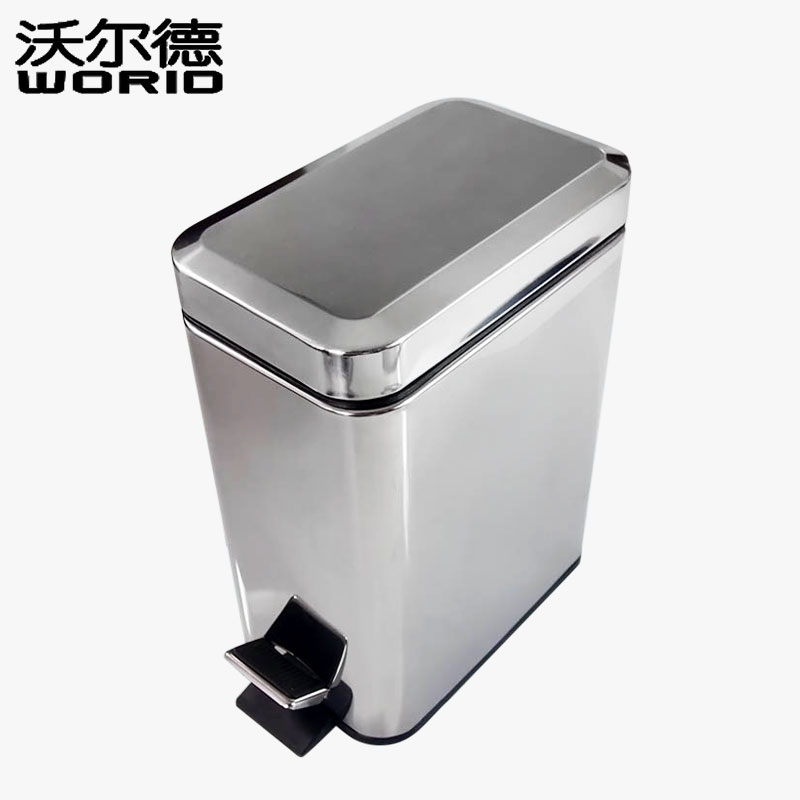 hot Sales home hotel toilet Stainless Steel Pedal Waste/Rubbish/Trash/garbage bin large size 3L/6L/12L/20L/30L sanitizer can
