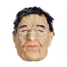 High Flexible Overhead Male Realistic Man Latex Mask old male party face mask with good quality christmas carnival party mask