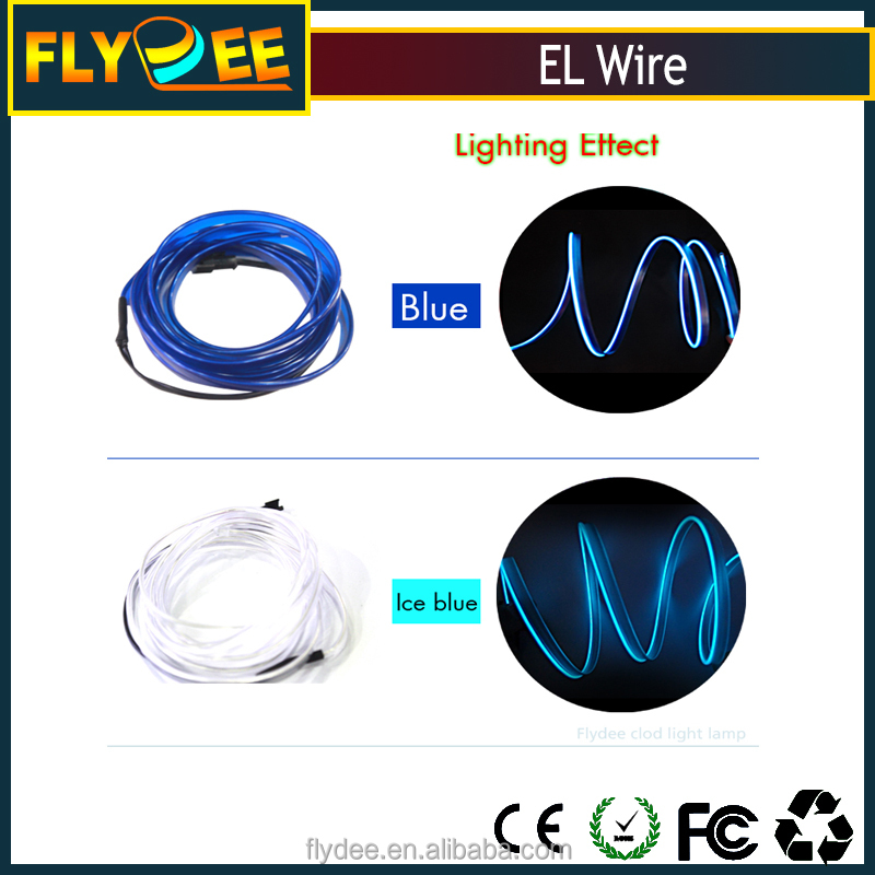 Hot sale remote control el wire cool colorful el smart wire for any scenes
