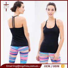 New Design Flow Sportswear Workout Tank Top with Removable Cups