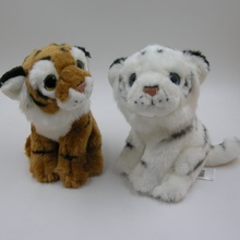 OEM/ODM soft white /brown tiger plush toys simulation plush <strong>animal</strong> for kids
