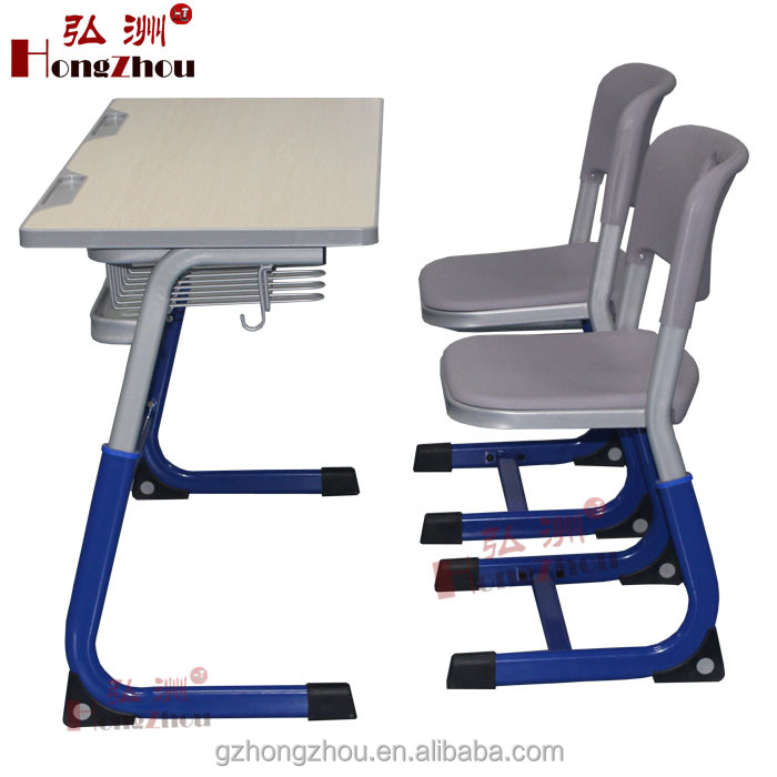 Classroom Double Seat School Desk and Chair Height Adjustable