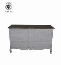 HL903 Vintage French Home Furniture 6 Drawers Drawing Room Livingroom corner Balcony Storage Chest Cabinets