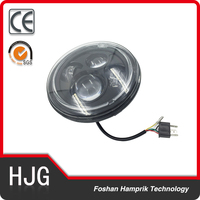 Motorcycle front head light 2200 LM high /low beam for Harley 7 inch led motorcycle headlight