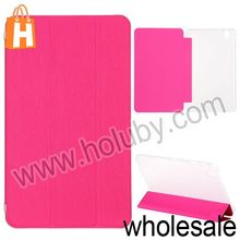 Toothpick Grain Pure Color Tri-fold Stand PU+PC Leather Case for Samsung Galaxy Tab Pro 8.4 T320