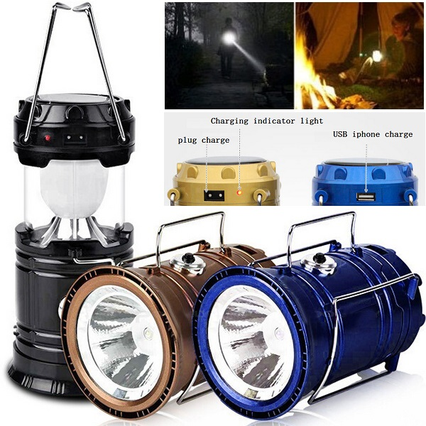 2016 Cheap Solar power USB output rechargeable Led Camping Lantern