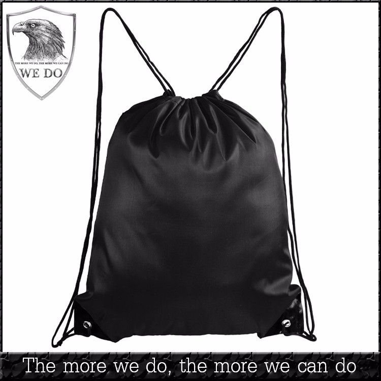 Wholesale Design Your Own Sport Gym Storage Polyester Drawstring Backpack Bag