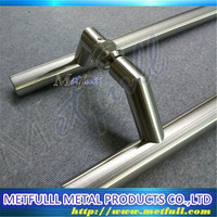 Glass Door Handle Circle Tube Stainless