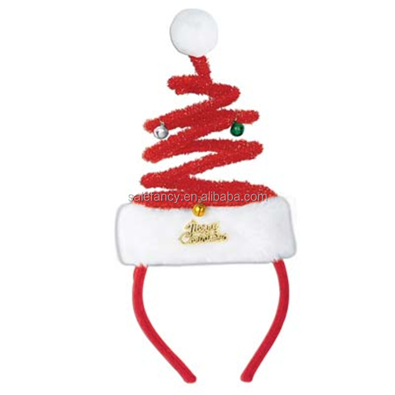 Wholesale Santa Bopper Headband christmas hair bow QHBD-2035
