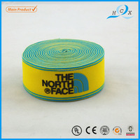 attractive design yellow and green printed silicone wrist band