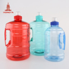 China companies tableware wholesale plastic bucket shape packing 1300 ml 1.3 l 60 oz water bottle