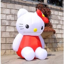 Advertising Event decoration custom giant inflatable hello kitty cartoon for sale ST285