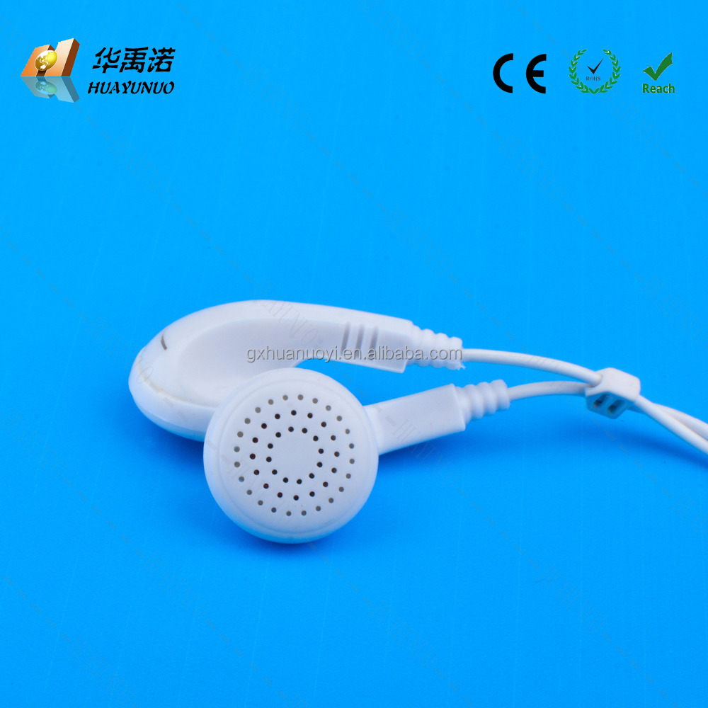 Earphone For Airline Style Plastic Cute ear buds disposable airline air lines mono single ear earphones/low pricce earbud/cheap