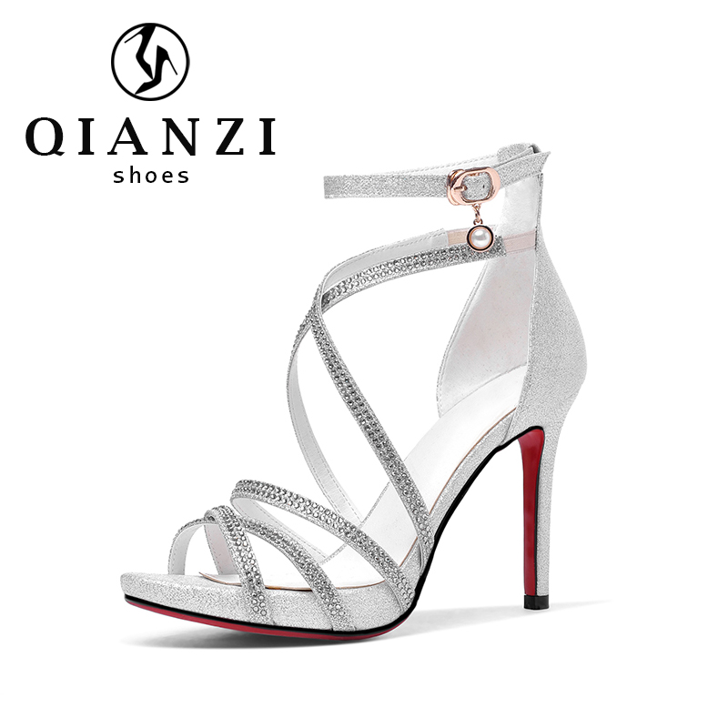 7380 elegant shape extremely beautiful silver dress strappy sandals cheap prices