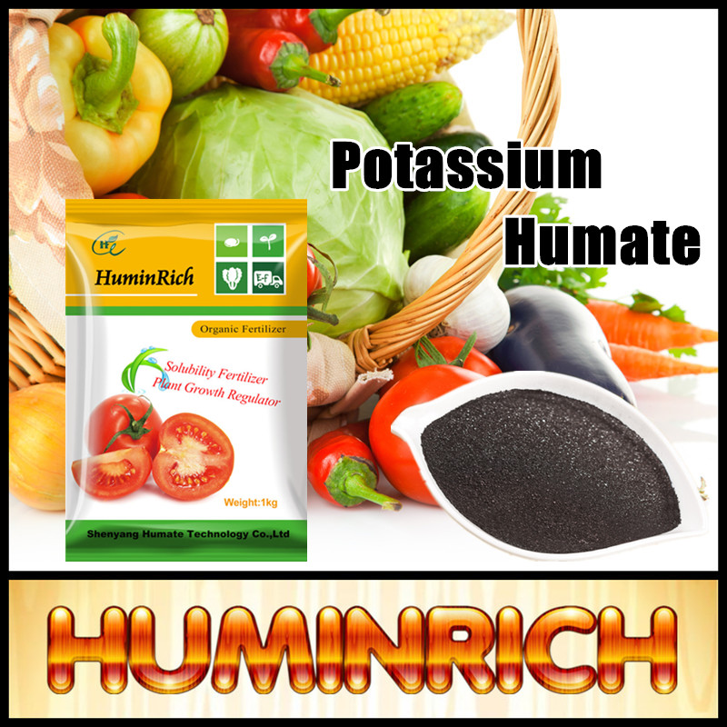 Huminrich Leonardite Stimulate Plants Growth Super Potassium Humate Shiny Powder