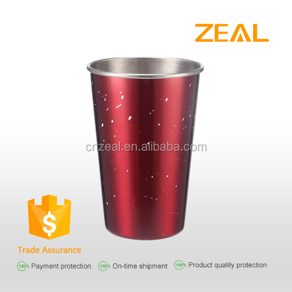 500ml easy taking metal stainless steel drinking cup