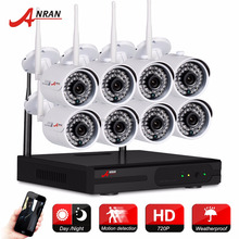 Anran 8ch kit wireless security camera home outdoor cctv system 720P