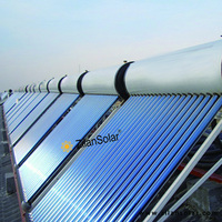 Copper Pipe Material and pressurzied direct-plug balcony solar water heater