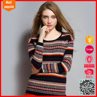 2017 Fashion Round Neck Custom Knit