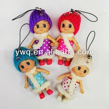 15'' Most popular key clains mini baby Confused girls doll plush toys for kids